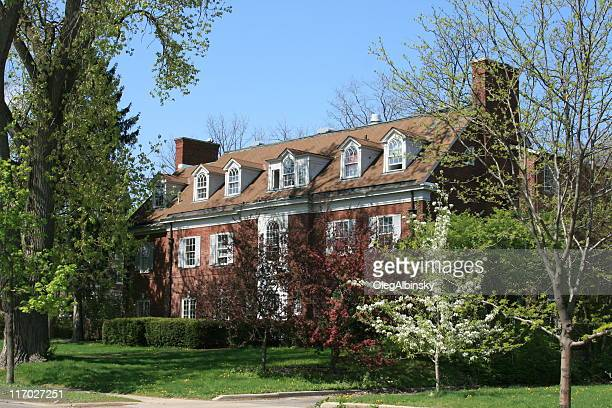 University of Michigan Sorority House, Ann Arbor. Clear blue sky.