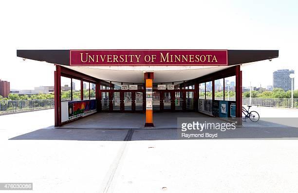 University of Minnesota signage on the University of Minnesota campus on May 21 2015 in Minneapolis Minnesota