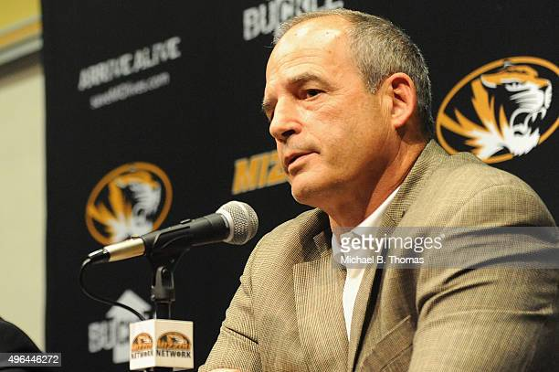 University of Missouri-Columbia head football coach Gary Pinkel speaks to the media during a news conference on the campus of University of Missouri...