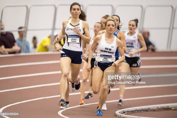 University of New Hampshire's Elinor Purrier leads the in the Womens 1 Mile Run and would go on to take 1st with a time of 43156 during the Division...