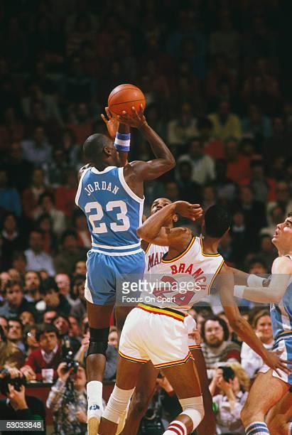 University of North Carolina's Michael Jordan makes a jumpshot during a game