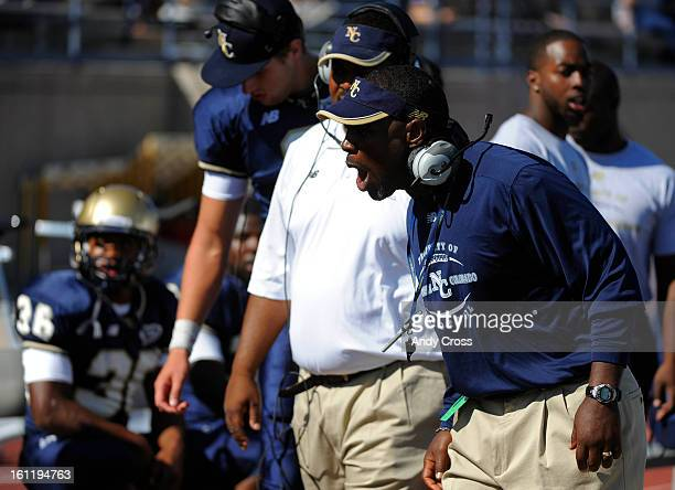 GREELEY CO University of Northern Colorado head football coach Earnest Collins Jr during the game against Lindenwood at Nottingham Stadium in Greeley...