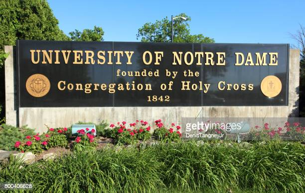 university of notre dame - south bend indiana stock-fotos und bilder