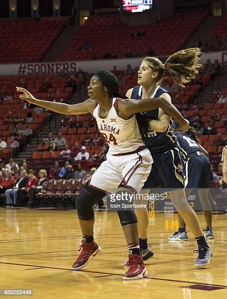 University of Oklahoma player Ljeoma Odimgbe guards Oral Roberts University player Montserrat Brotons during the Oral Roberts University vs...