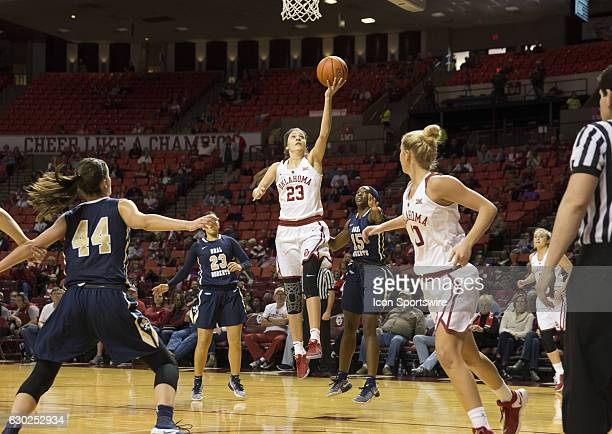 University of Oklahoma player Maddie Manning shoots the ball during the Oral Roberts University vs University of Oklahoma NCAA Women's Basketball...