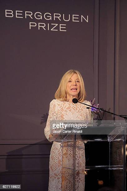 University of Pennsylvania President Amy Gutmann attends The Berggruen Prize Gala Honoring Philosopher Charles Taylor at New York Public Library...