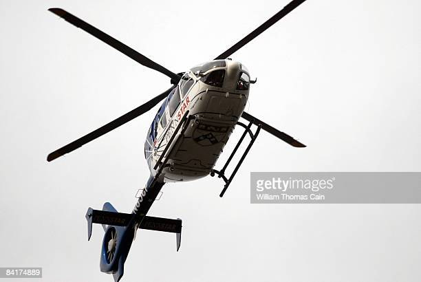 University of Pennsylvania Trauma helicopters fly over burial services for Maj John Pryor MD of Moorestown New Jersey at Colestown Cemetery January 5...