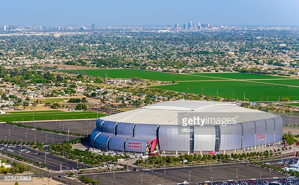 university of phoenix stadium glendale arizona, 2015 superbowl football host - glendale arizona stock photos and pictures