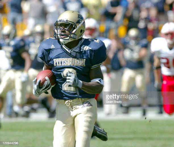 University of Pittsburgh's Marcus Furman returns a kickoff 96 yards for a touchdown against the Nebraska Cornhuskers on September 18 at Heinz Field...