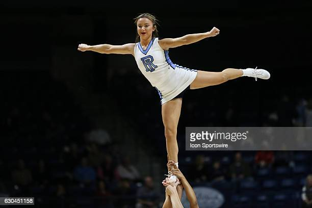 University of Rhode Island cheerleader during the game between the University of Rhode Island Rams and the William Mary Tribe on December 22 at The...
