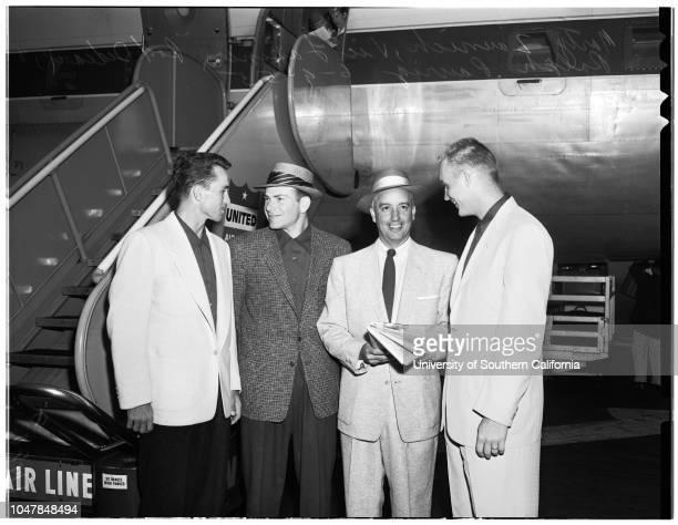 University of Southern California bases all team off for Omaha Nebraska 9 June 1955 Rod Dedeaux Marty ZaunichVic LapinerRalph Pausig Supplementary...
