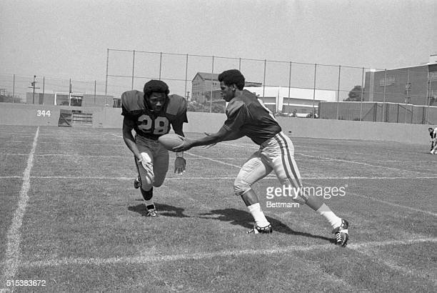 University of Southern California Clarence Davis, Tailback, #28, who led the Pacific-8 in rushing with 1275 yards in 10 regular season games and...