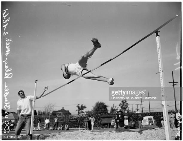 University of Southern California versus The Striders relays meet 18 March 1961 Bobby StatenBruce MunnBob WilsonDavid JamesJoe FaustNorm GrundyBob...