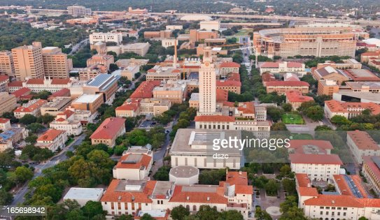 University Of Texas Ut Austin Campus Aerial View From