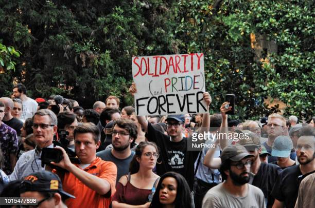 University of Virginia students protested against racism on the oneyear anniversary of the Unite the Right White Supremacist Rally held in...