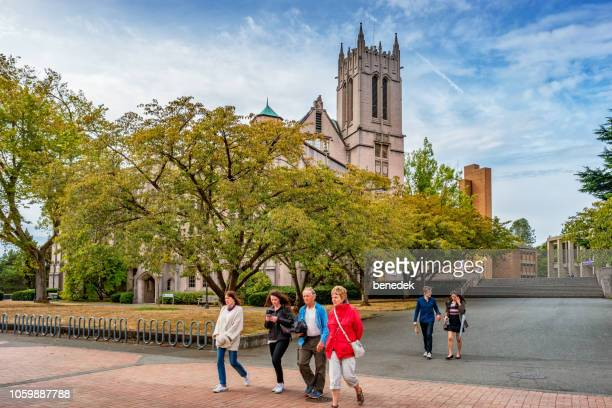 米国シアトルでワシントン大学のキャンパス - ワシントン大学 ストックフォトと画像