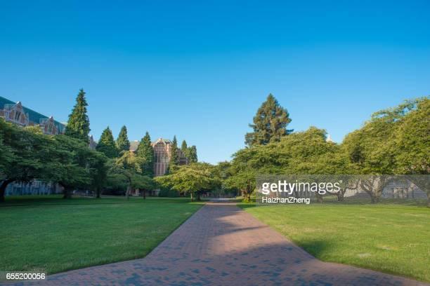 シアトル、ワシントン州のワシントン大学のキャンパス - ワシントン大学 ストックフォトと画像