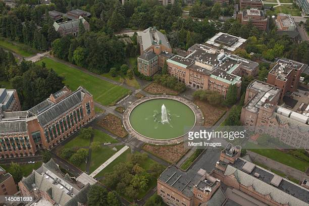 university of washington in seattle, from above - university of washington stock pictures, royalty-free photos & images