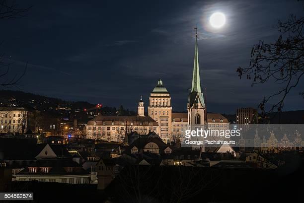 University of Zurich at night