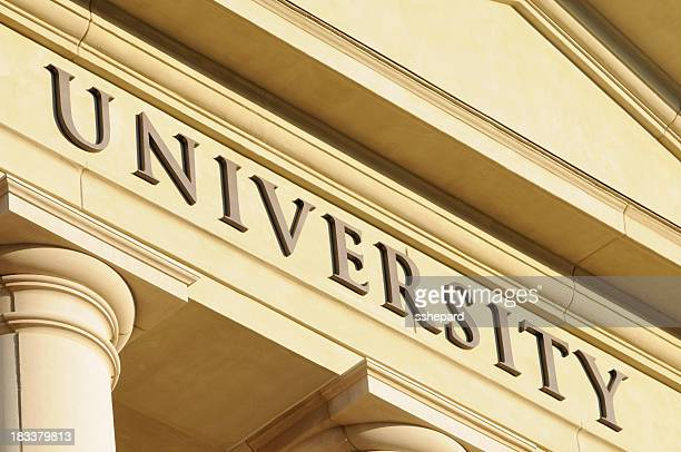 University sign close up