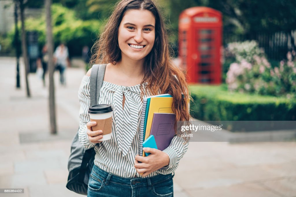 University student in London city : Stock Photo