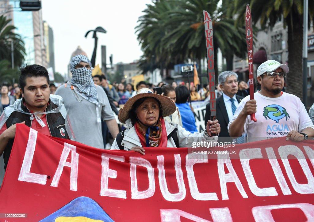 MEXICO-UNAM-ATTACK-DEMO : News Photo
