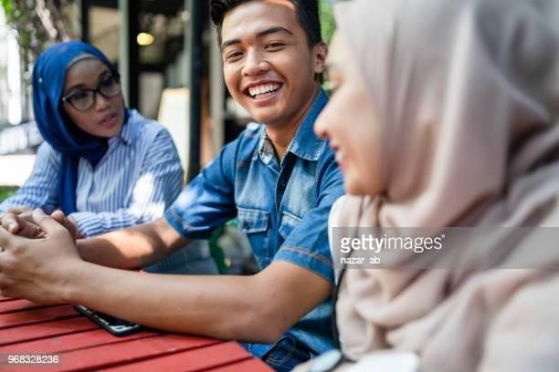 University students enjoying time together.