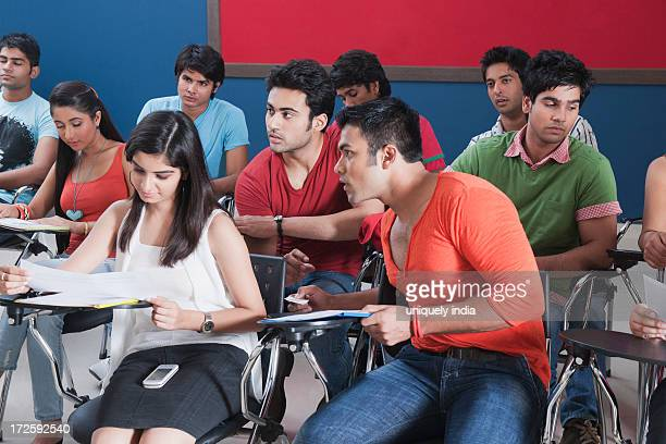 University students in an exam hall
