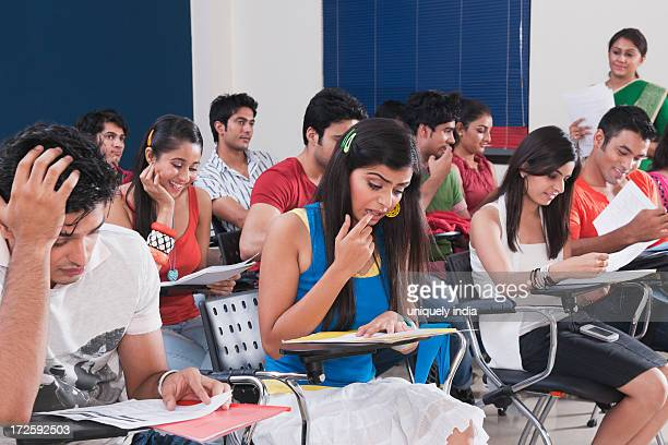 University students in an examination hall