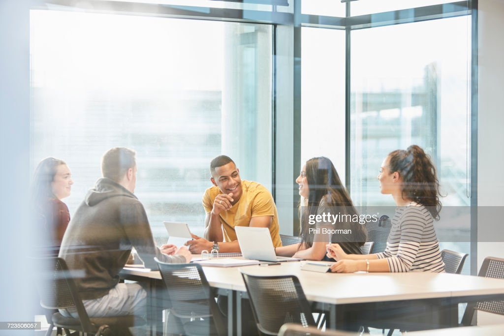University students in study group : Stock Photo