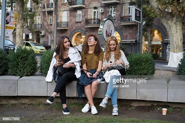 university students in yerevan, armenia - エレバン ストックフォトと画像