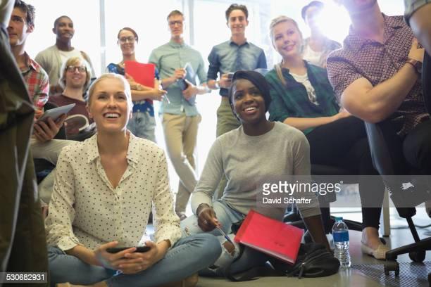 University students listening during seminar