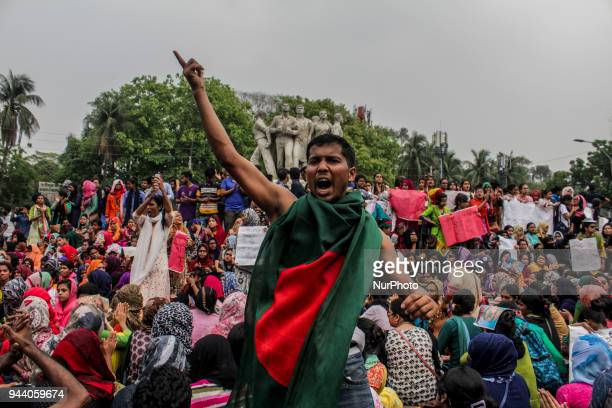 University Students Protest in Dhaka Bangladesh on 9 April 2018 Students demanding reforms to the civil service quota system have again taken up...