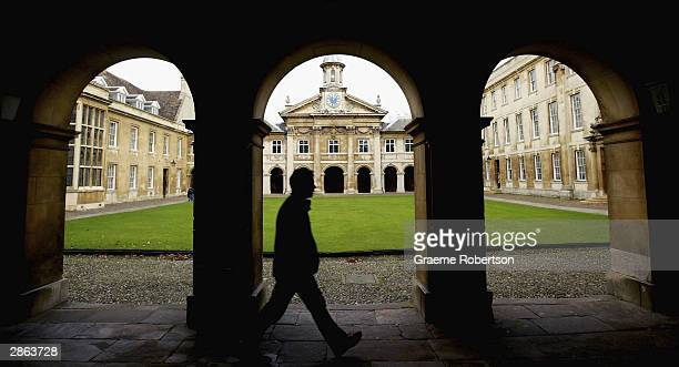 University students return for the spring term at Cambridge University on January 13 2004 in Cambridge England The students return as a heated debate...