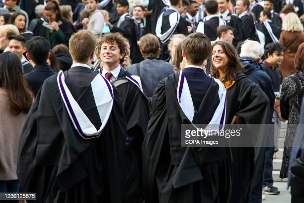 University student's seen wearing gowns on their graduation day. Over two and a half thousand graduates attended this year's Commemoration Day.