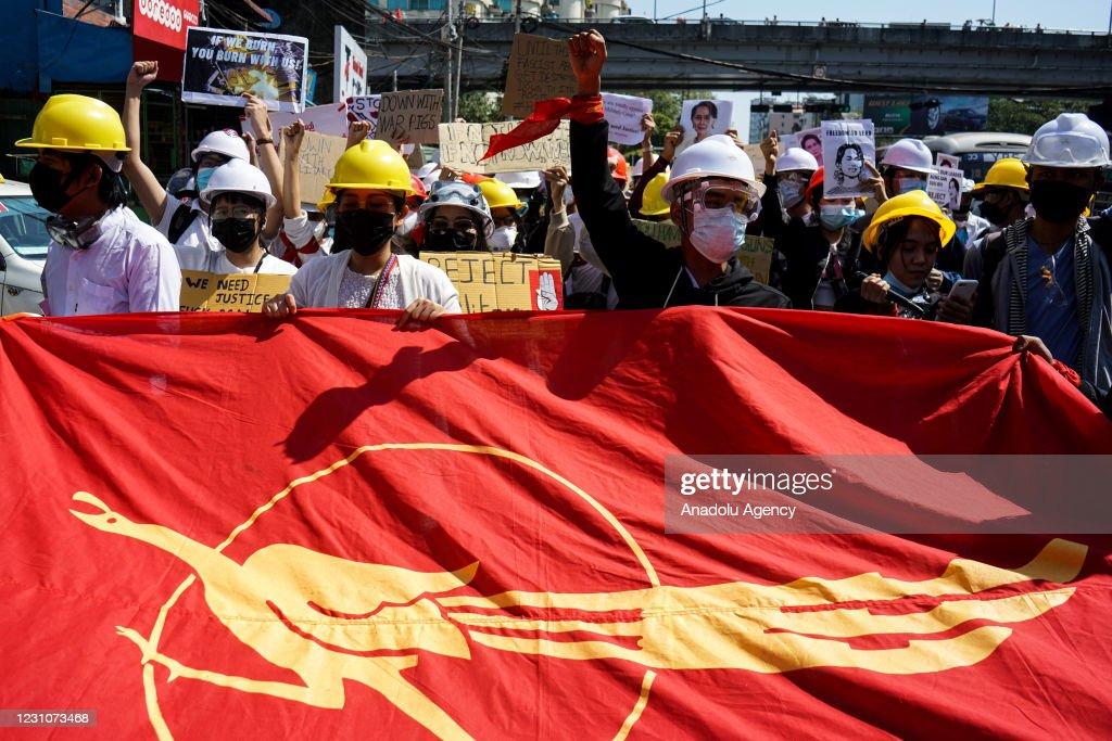 Myanmar: Anti-coup protests continue despite ban : Nachrichtenfoto