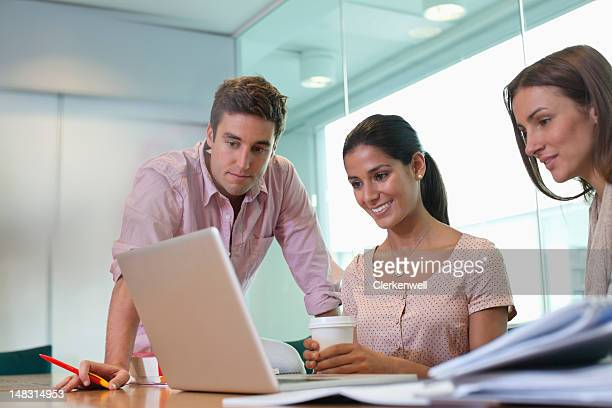 University students using laptop