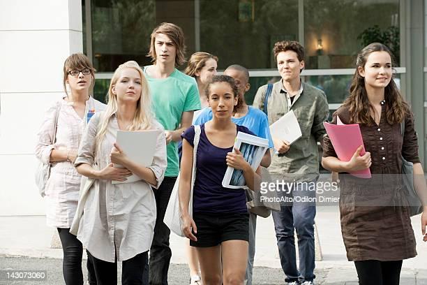 University students walking on campus