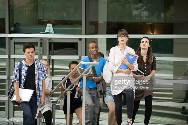 University students walking