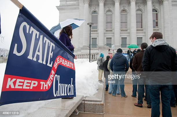 university wisonsin-madison's freethought festival - atheism stock photos and pictures