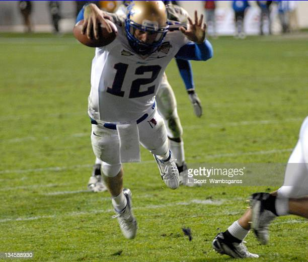 Universtiy of Tulsa's Paul Smith dives for the goal line and scores during the Armed Forces Bowl played at Amon Carter Stadium in Ft Worth Texas on...
