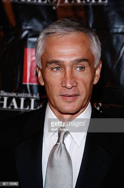 Univision news anchor Jorge Ramos attends the 19th Annual Broadcasting Cable Hall of Fame Awards at The WaldorfAstoria on October 20 2009 in New York...