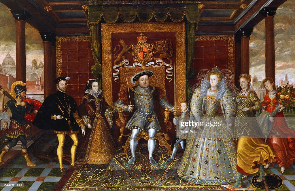 An Allegory of the Tudor Succession: The Family of Henry VIII : News Photo