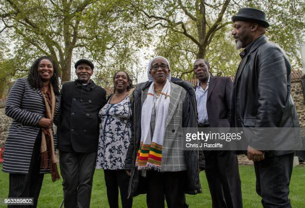 Unknown Anthony Bryan Sarah Connor Paulette Wilson Sylvester Marshall and Elwaldo Romeo pose for a phtograph on College Green after members of the...