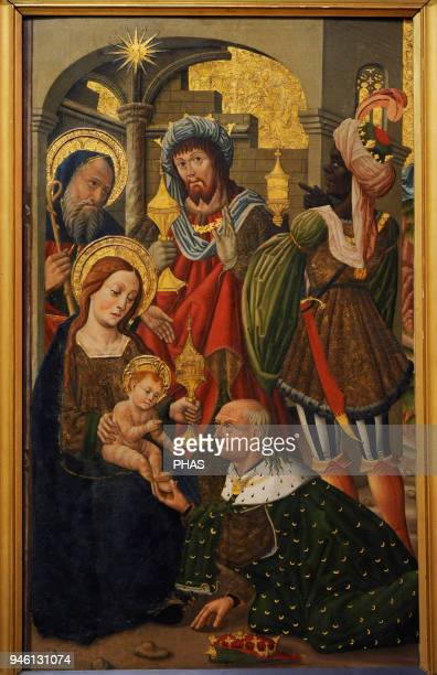 Unknown Aragonese Artist The Adoration of the Kings ca1490 National Gallery Oslo Norway