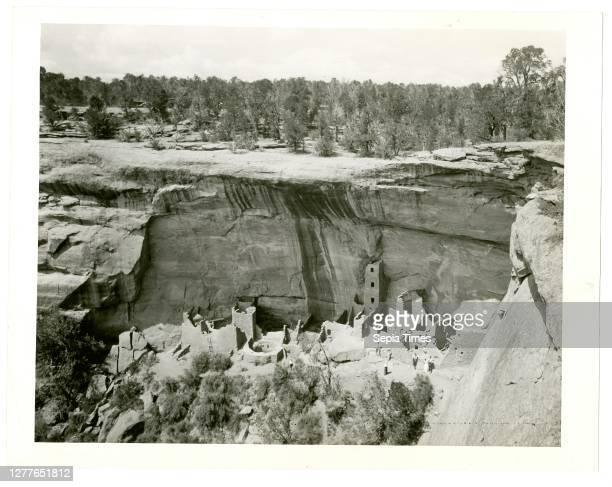 Unknown Artist, Cliff Dwellings, Mesa Verde National Park, Colorado, 5/22/1939, gelatin silver print.