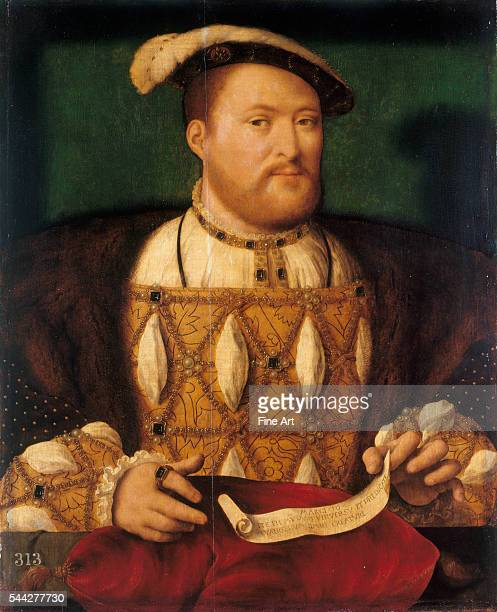 Unknown artist Portrait of Henry VIII oil on panel 16th century Royal Collection London