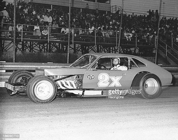Gene Bergin of Enfield CT is shown at the wheel of Bob Judkins' NASCAR Modified This was the first NASCARlegal Ford Pintobodied car to compete on the...