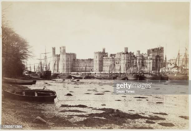 Unknown , James Valentine, Scottish, 1815 - 1879, Caernarvon Castle from the West, between 1870 and 1880, albumen print from collodion on glass...