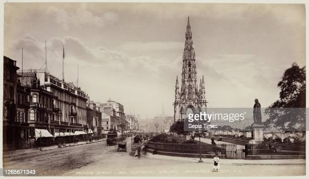 Unknown , James Valentine, Scottish, 1815 - 1879, Princes Street from the National Gallery, Edinburgh, between 1870 and 1880, albumen print from...